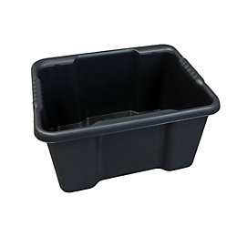 B&Q Black 30L Plastic Storage Box