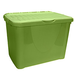 B&Q Green 60L Flip Lid Storage Box