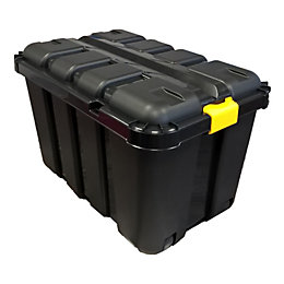 B&Q Black 145L Plastic Storage Trunk