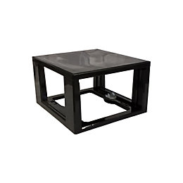 Form Kombine Black Plastic Drawer Tower Frame
