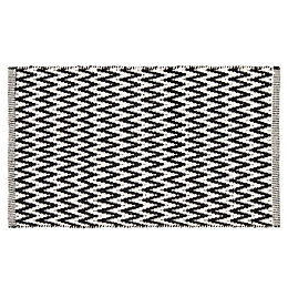 Colours Haillie Black & White Chevron Cotton Doormat