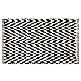 Colours Haillie Black & White Chevron Cotton Doormat