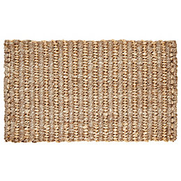 Colours Maxie Natural Jute Doormat (L)75cm (W)45cm