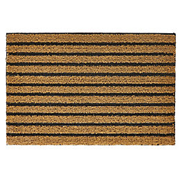 Natural Ribbed Polypropylene Door Mat (L)60cm (W)40cm