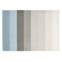 Colours Elsie Blue Stripe Rug (L)170cm (W)120cm