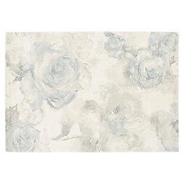 Colours Florelle Teal Floral Rug (L)170cm (W)120cm