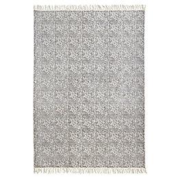 Colours Ellissya Grey Ditsy Floral Rug (L)170cm (W)120cm