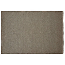 Colours Mahalla Natural Plain Rug (L)170cm (W)120cm