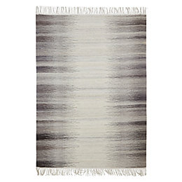 Colours Mindy Grey Ikat Rug (L)170cm (W)120cm