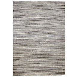 Colours Sirena Grey Stripe Rug (L)170cm (W)120cm