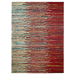 Colours Yazmine Red Stripe Rug (L)170cm (W)120cm