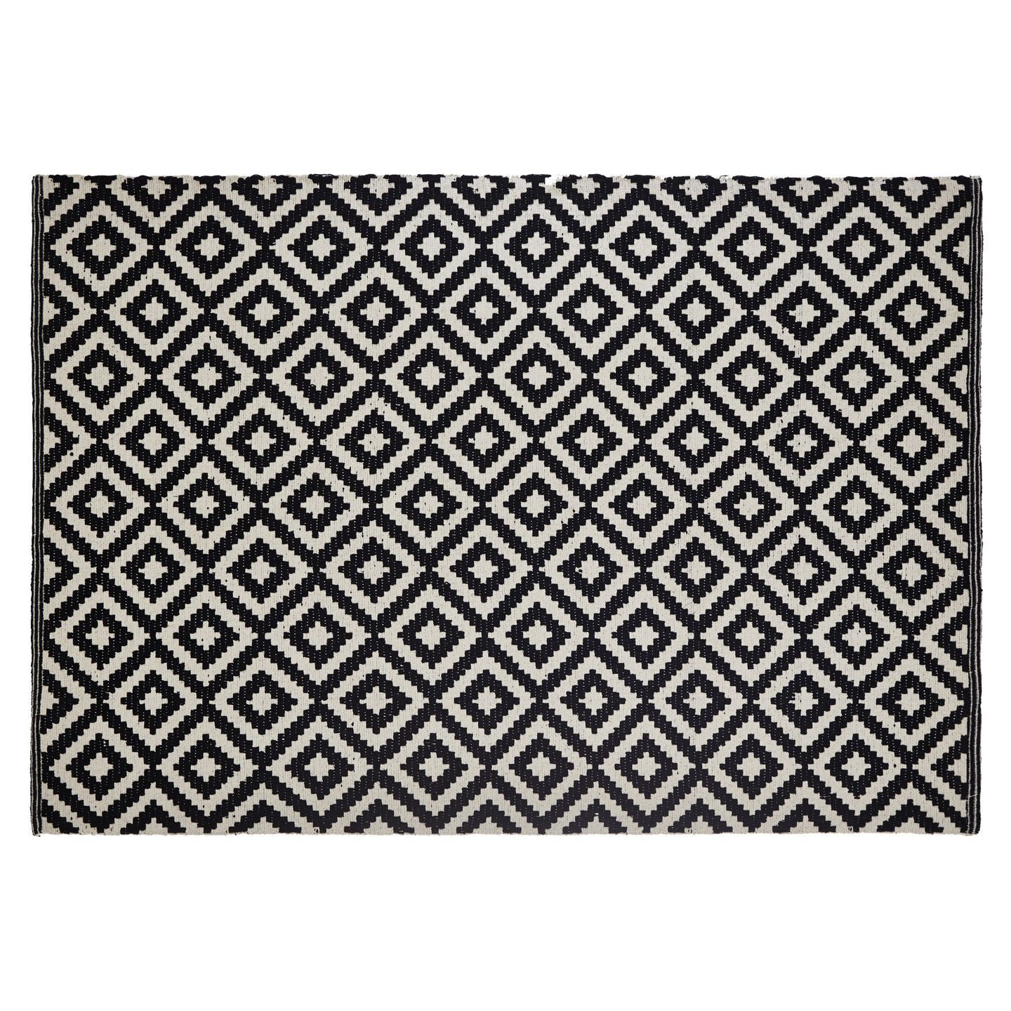 Colours Harrietta Black White Geometric Rug L 1 7m W 2 M Departments Diy At B Q