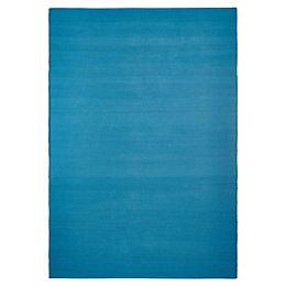 Colours Madisen Turquoise Plain Rug (L)170cm (W)120cm