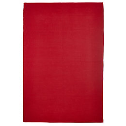 Colours Madisen Red Plain Rug (L)170cm (W)120cm