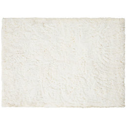 Colours Gemima Cream Plain Rug (L)170cm (W)120cm