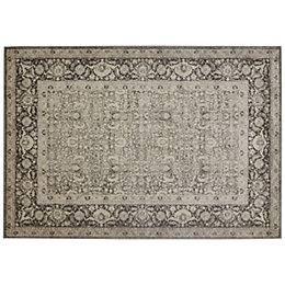 Colours Elenor Grey Persian Rug (L)170cm (W)120cm