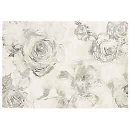 Colours Florelle Grey Floral Rug (L)170cm (W)120cm