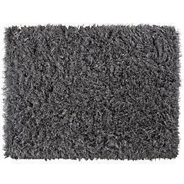 Colours Sapphire Grey Glitter Rug (L)160cm (W)120cm