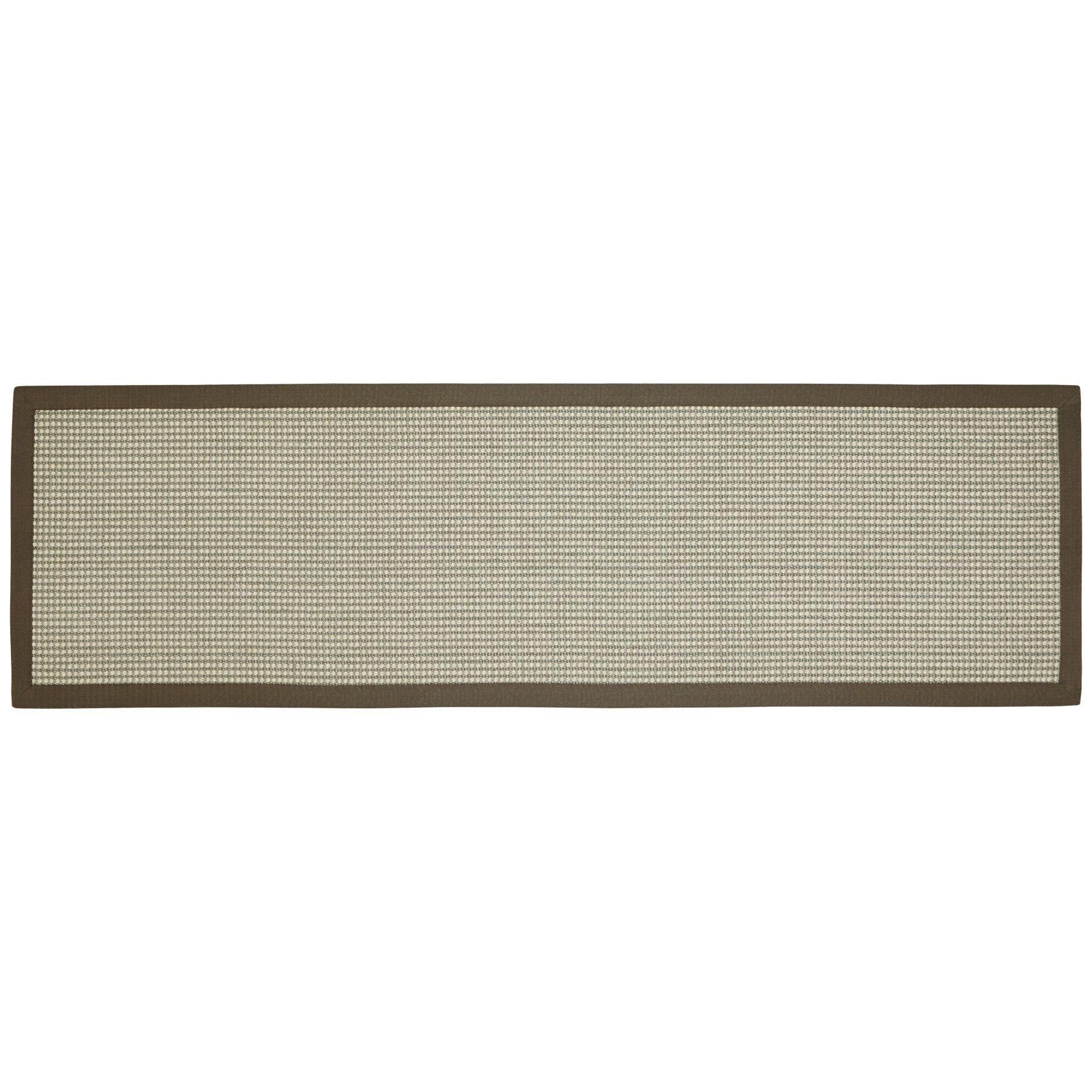 Colours Frydah Grey Flatweave With Cotton Border Runner (l)200cm (w)60cm