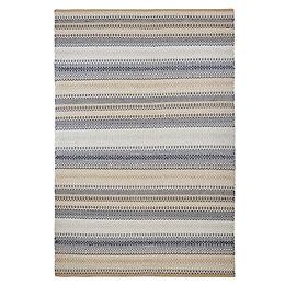 Colours Violette Blue & Taupe Stripe Rug (L)170cm