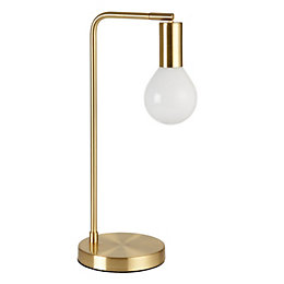 Channing Modern Gold Satin Brushed Gold Table Lamp