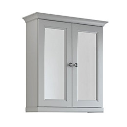 Cooke & Lewis Chadleigh Double Door Light Grey