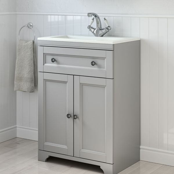 Washstands and Vanity Units Bathroom Basins  Sinks DIY at B Q