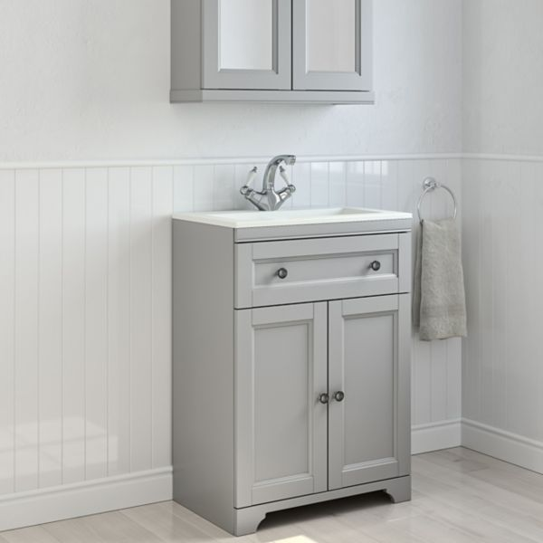 Free standing furniture bathroom cabinets diy at b q for Diy bathroom sink cabinet