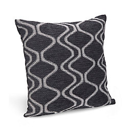Darama Geometric Swirl Black Cushion