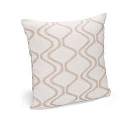 Darama Geometric Swirl Cream Cushion