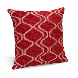 Darama Geometric Swirl Red Cushion
