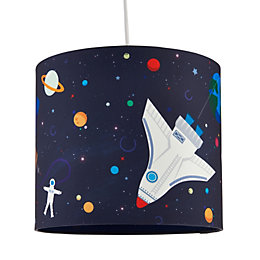 Colours Spaceship Multicolour Light Shade (D)25cm