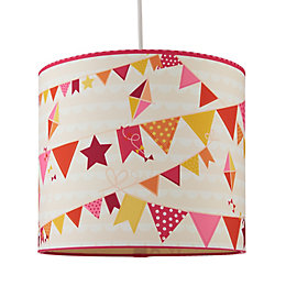 Kids Colours Bunting Multicolour Light Shade (D)25cm