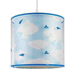 Kids Colours Sky Blue Light Shade (D)25cm