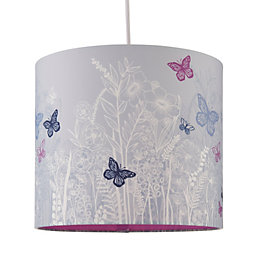 Kids Colours Butterfly Garden Lilac Light Shade (D)25cm