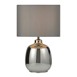 Alphie Smoked Glass Table Lamp