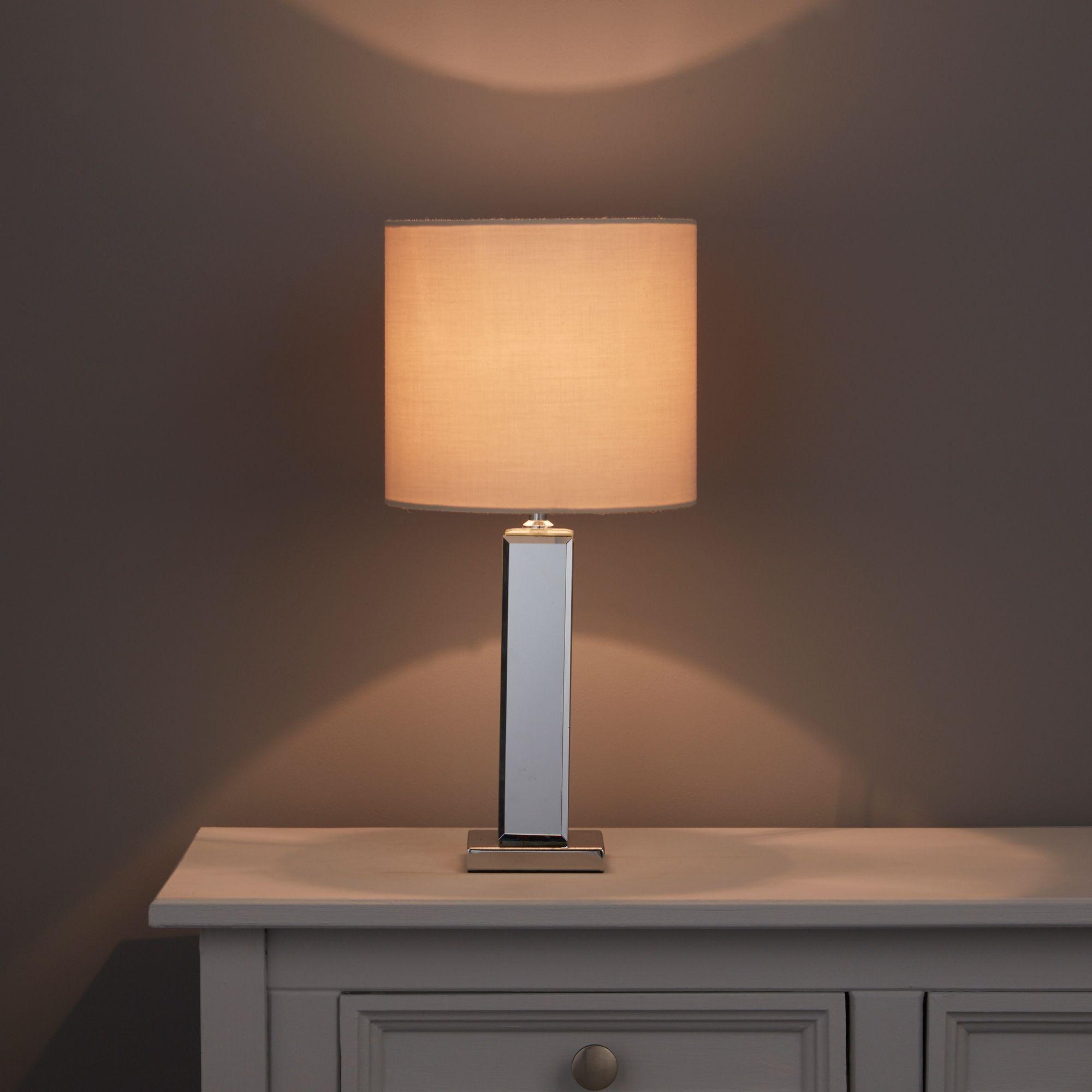 Table lamps desk lamps indoor lighting diy at bq ara mirror table lamp geotapseo Images