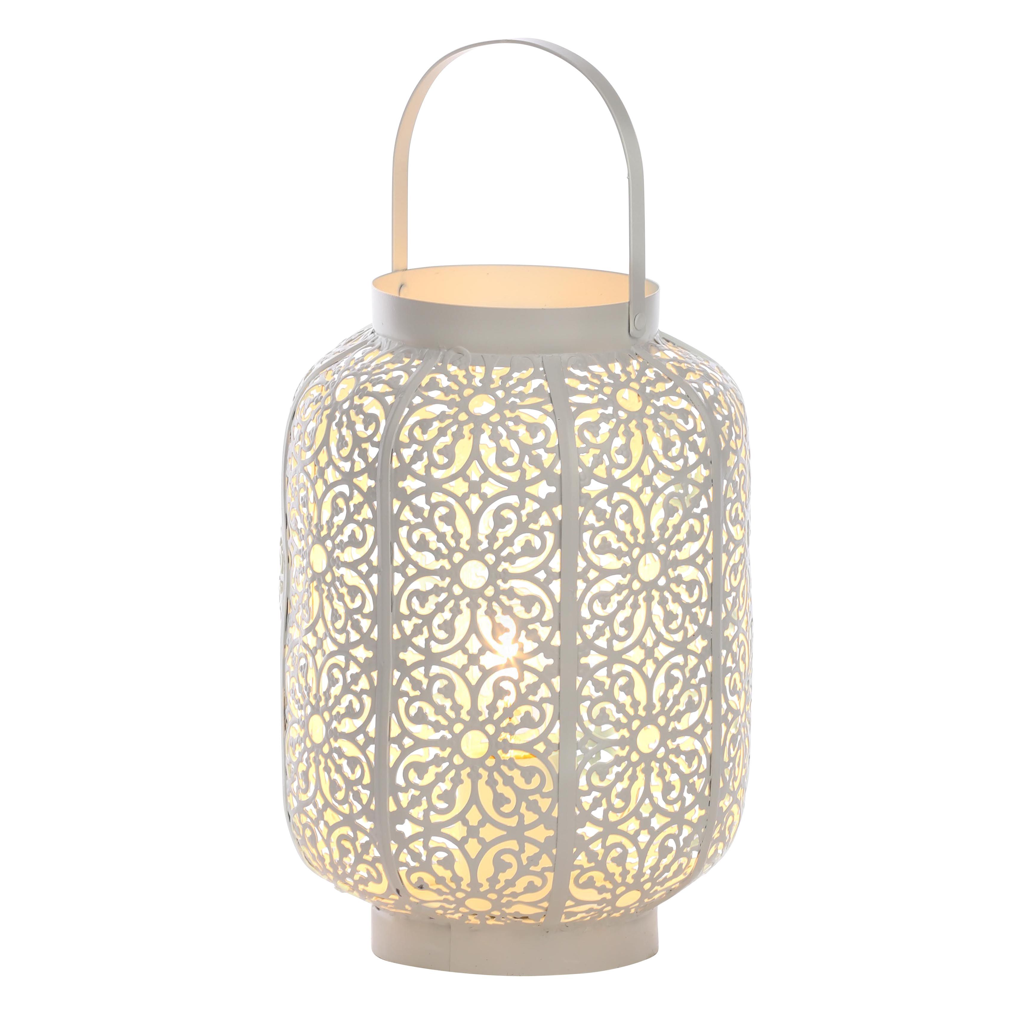 Moroccan Lantern White Table Lamp | Departments | DIY at B&Q