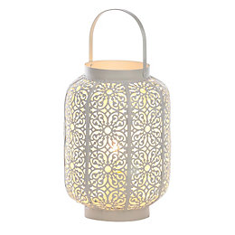 Morrocan Lantern White Table Lamp