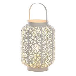 Moroccan Lantern White Table Lamp