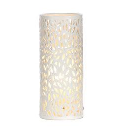 Cutout Leaf Cream Ceramic Table Lamp