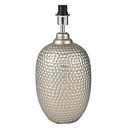 Sandford Dented Silver Table Lamp