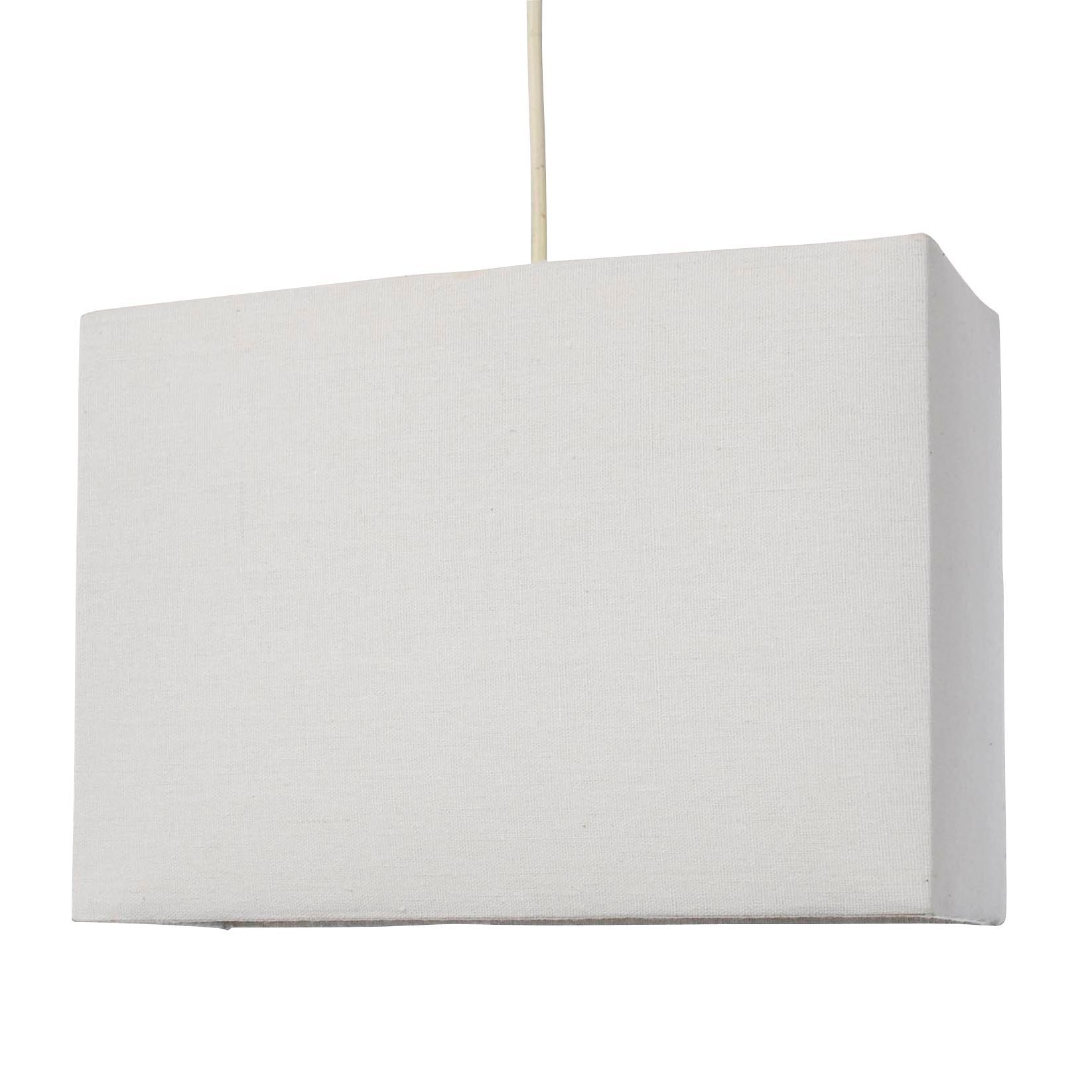 colours alban white rectangle lamp shade d28cm departments diy at bu0026q - Rectangular Lamp Shades