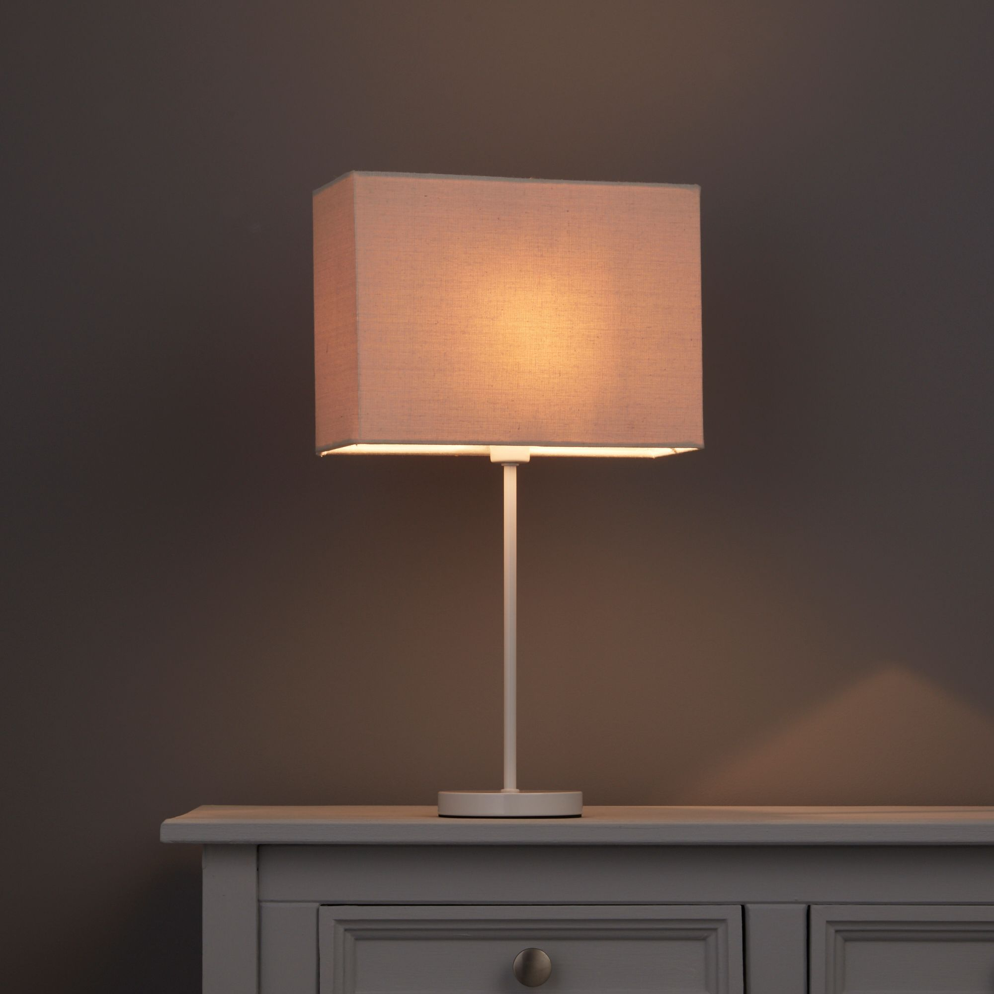 Colours Alban Limestone Rectangle Lamp Shade (d)280mm