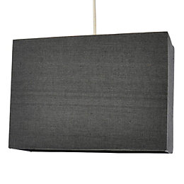 Colours Alban Anthracite Rectangle Lamp Shade (D)28cm
