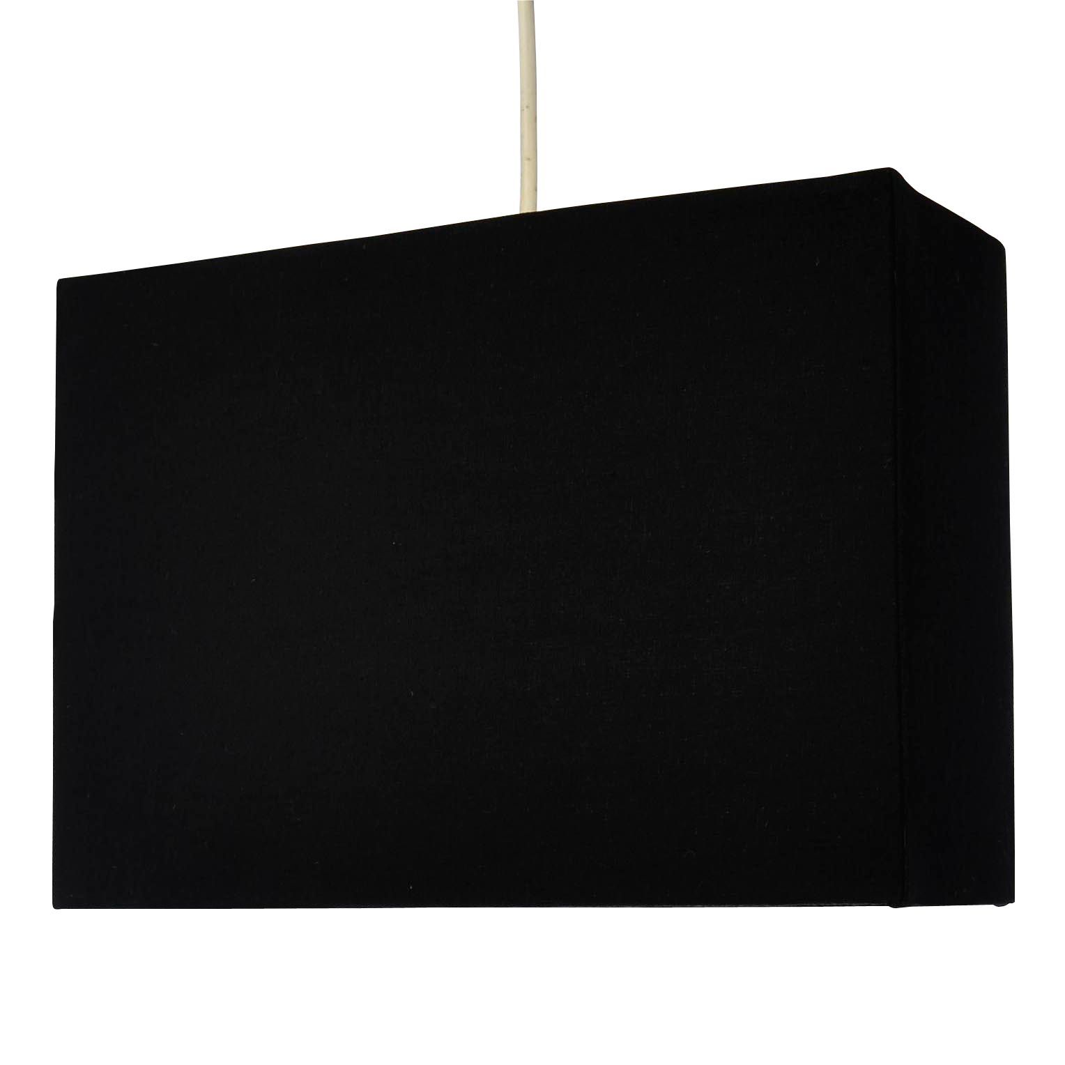 Black Rectangular Lamp Shades: Colours Alban Black Rectangle Lamp Shade,Lighting