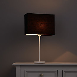 Colours Alban Black Rectangle Lamp Shade