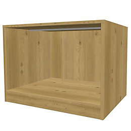 Darwin Modular Oak Effect Midi Bedside Cabinet (H)546