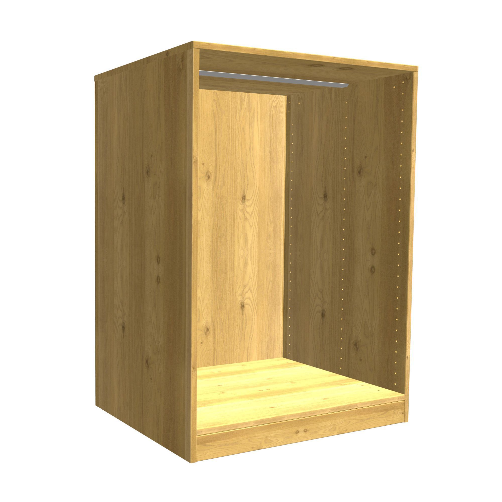Oak Effect Kitchen Cabinets: Darwin Modular Oak Effect Chest Cabinet (H)1026mm (W)750mm