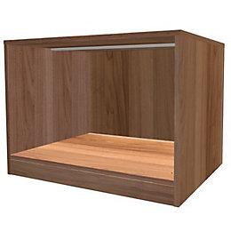 Darwin Modular Walnut Effect Midi Bedside Cabinet (H)546mm